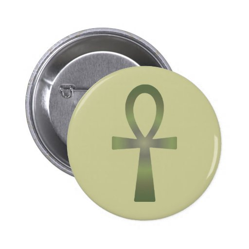 Earth Tone Ankh Pinback Buttons
