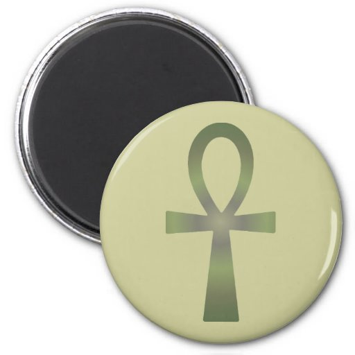 Earth Tone Ankh Refrigerator Magnet