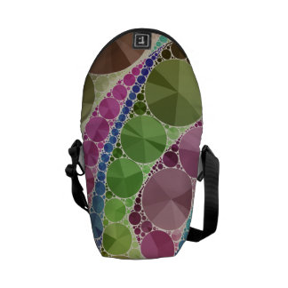 Earth Tone Bling Abstract Pattern Courier Bag