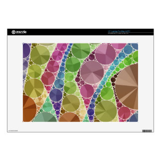 "Earth Tone Bling Abstract Pattern Decals For 15"" Laptops"