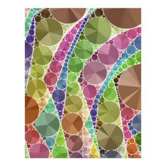 Earth Tone Bling Abstract Pattern Letterhead