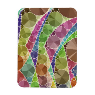 Earth Tone Bling Abstract Pattern Magnet