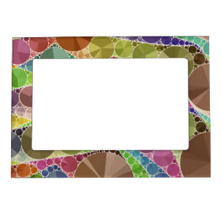 Earth Tone Bling Abstract Pattern Magnetic Photo Frame