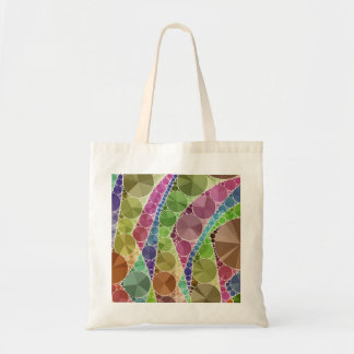 Earth Tone Bling Abstract Pattern Tote Bag
