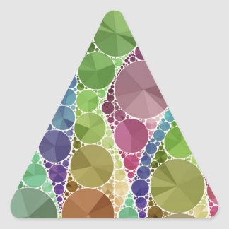 Earth Tone Bling Abstract Pattern Triangle Sticker