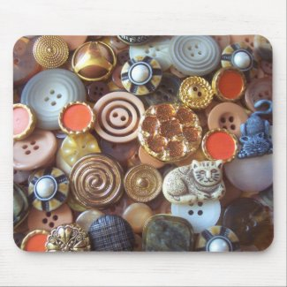Earth Tone Buttons mousepad