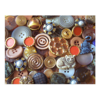 Earth Tone Buttons Postcard
