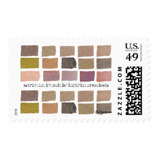 Earth tone color tiles classic postage stamp