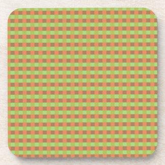 Earth Tone Colored Squares Cork Coasters
