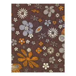 Earth Tone Floral Abstract Letterhead