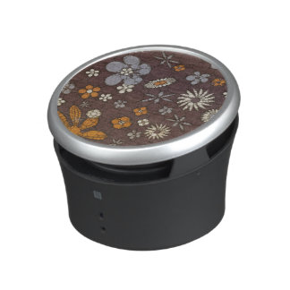 Earth Tone Floral Abstract Speaker