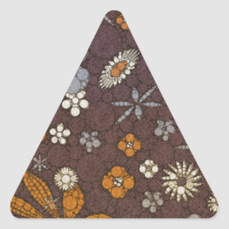 Earth Tone Floral Abstract Triangle Sticker