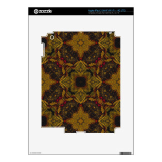 Earth Tone Flower Texture Decals For iPad 3
