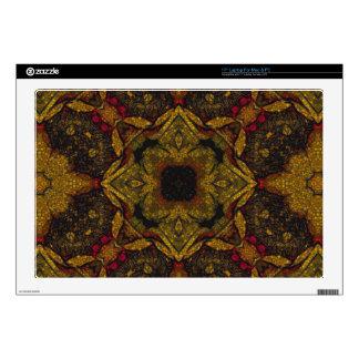 Earth Tone Flower Texture Laptop Skin