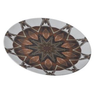 Earth-Tone Iron Star Kaleidoscope Plate