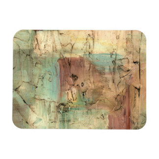 Earth Tone Painting with Cracked Surface Magnet