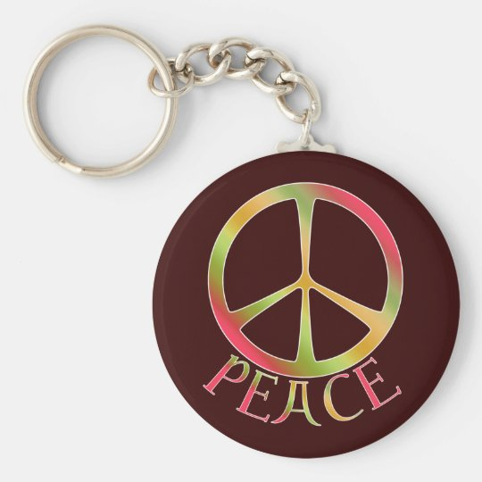 Earth Tone Peace Keychain