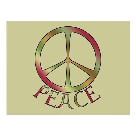 Earth Tone Peace Postcards