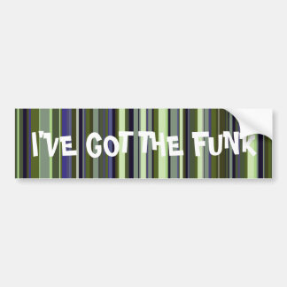 Earth Tone Retro Stripes Bumper Sticker