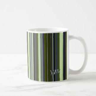 Earth Tone Retro Stripes Coffee Mug