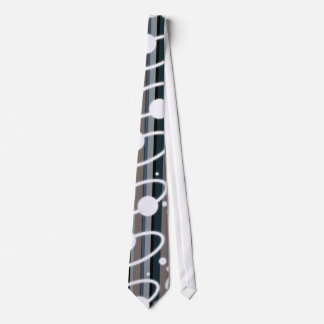 Earth Tone Retro Stripes & Orbits Neck Tie