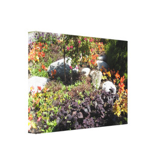 Earth Tone Rock Garden Stretched Canvas Print