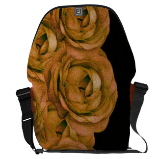 Earth Tone Roses Courier Bag