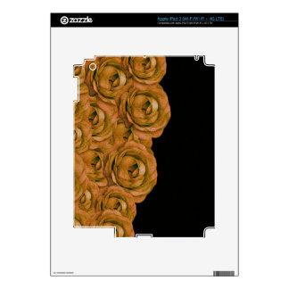 Earth Tone Roses iPad 3 Decals