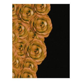 Earth Tone Roses Letterhead