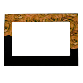 Earth Tone Roses Magnetic Picture Frame
