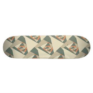 Earth Tone Shapes Construct Skateboard Deck