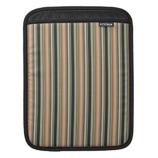 Earth Tone Striped iPad Sleeve