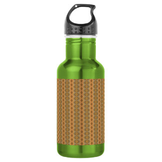 Earth Tone Stripes Water Bottle