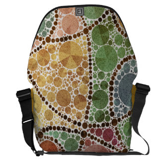 Earth Tone Swirly Abstract Courier Bag
