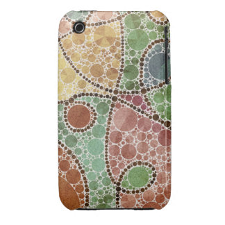 Earth Tone Swirly Abstract iPhone 3 Case