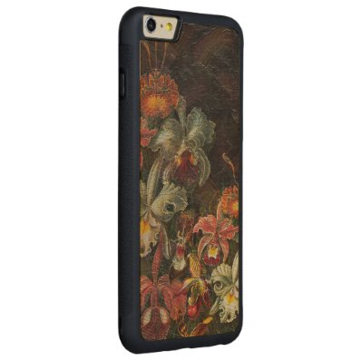 Earth Tone Vintage Flowers Carved® Maple iPhone 6 Plus Bumper