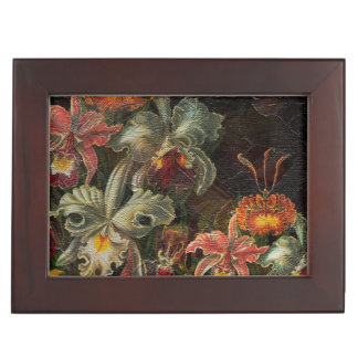 Earth Tone Vintage Flowers Memory Box