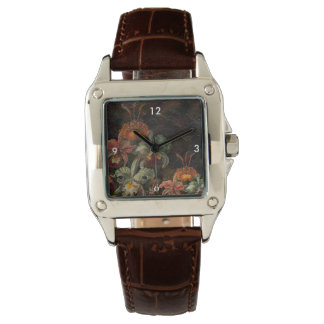 Earth Tone Vintage Flowers Watch