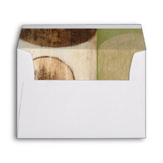 Earth Tone Wood Panel Painting with Circles Envelope