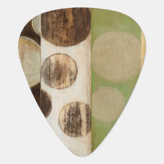 Earth Tone Wood Panel Painting with Circles Pick