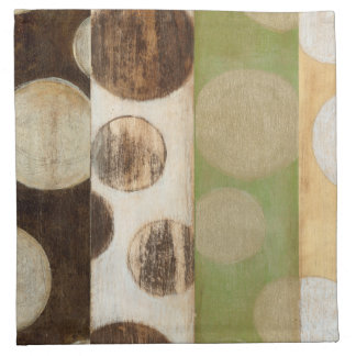 Earth Tone Wood Panel Painting with Circles Napkin