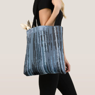 Earth Toned Blue Abstract Pattern Tote Bag