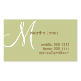 Earth Toned Business Card, Mommy Card (#BUS 006)