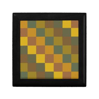 Earth toned checker pattern. jewelry box