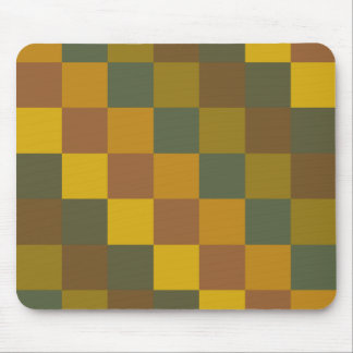 Earth toned checker pattern. mouse pad