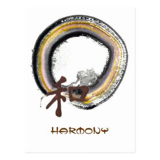 Earth toned Enso - Harmony Postcard