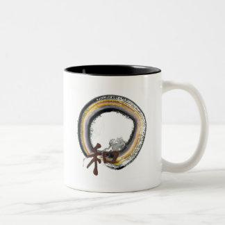 Earth toned Enso - Harmony Two-Tone Coffee Mug
