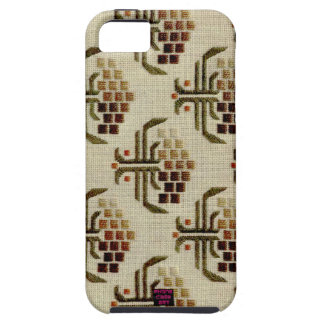 Earth Toned Floral Cross-Stitch Embroidery Design iPhone SE/5/5s Case