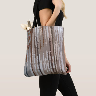 Earth Toned Multicolored Abstract Pattern Tote Bag