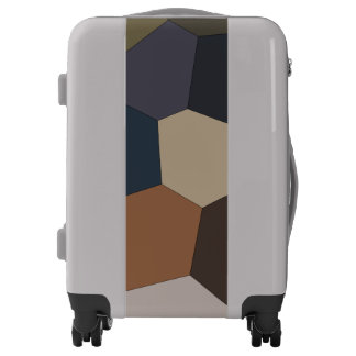Earth Toned Pattern Luggage